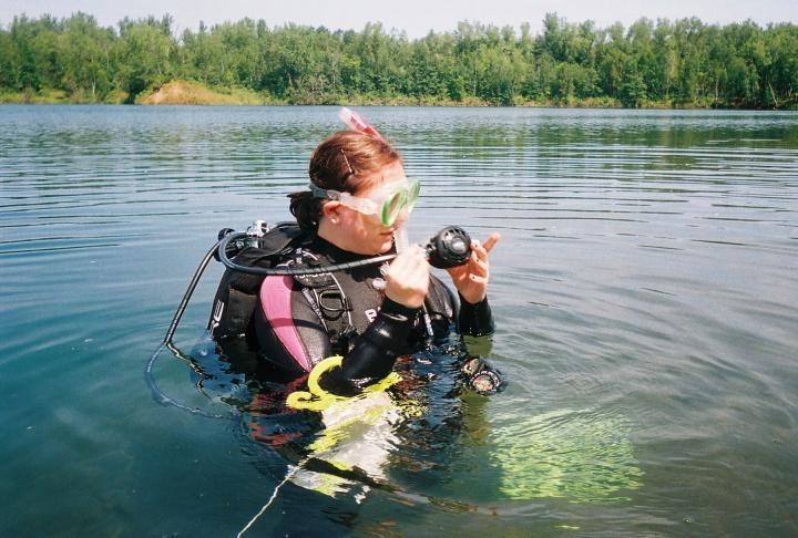 Scuba Diving in the Cuyuna MineRange